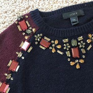 J Crew XXS Jeweled Sweater